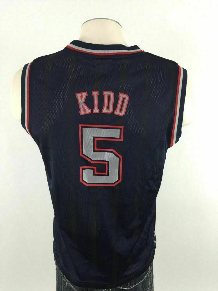 b54d5c3a184 Jason Kidd New Jersey Nets Reebok Jersey Youth L Large NBA 5 Basketball