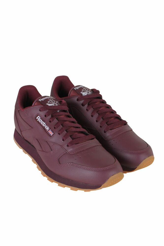 CL LTHR GUM CU MEN MAROON WHITE GUM BS5450 REEBOK SNEAKERS