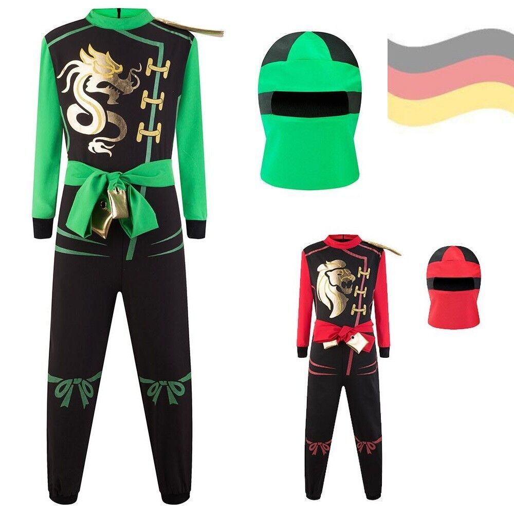 ninja go kost m f r jungen ninja anzug karneval fasching jungs verkleidung neu ebay. Black Bedroom Furniture Sets. Home Design Ideas