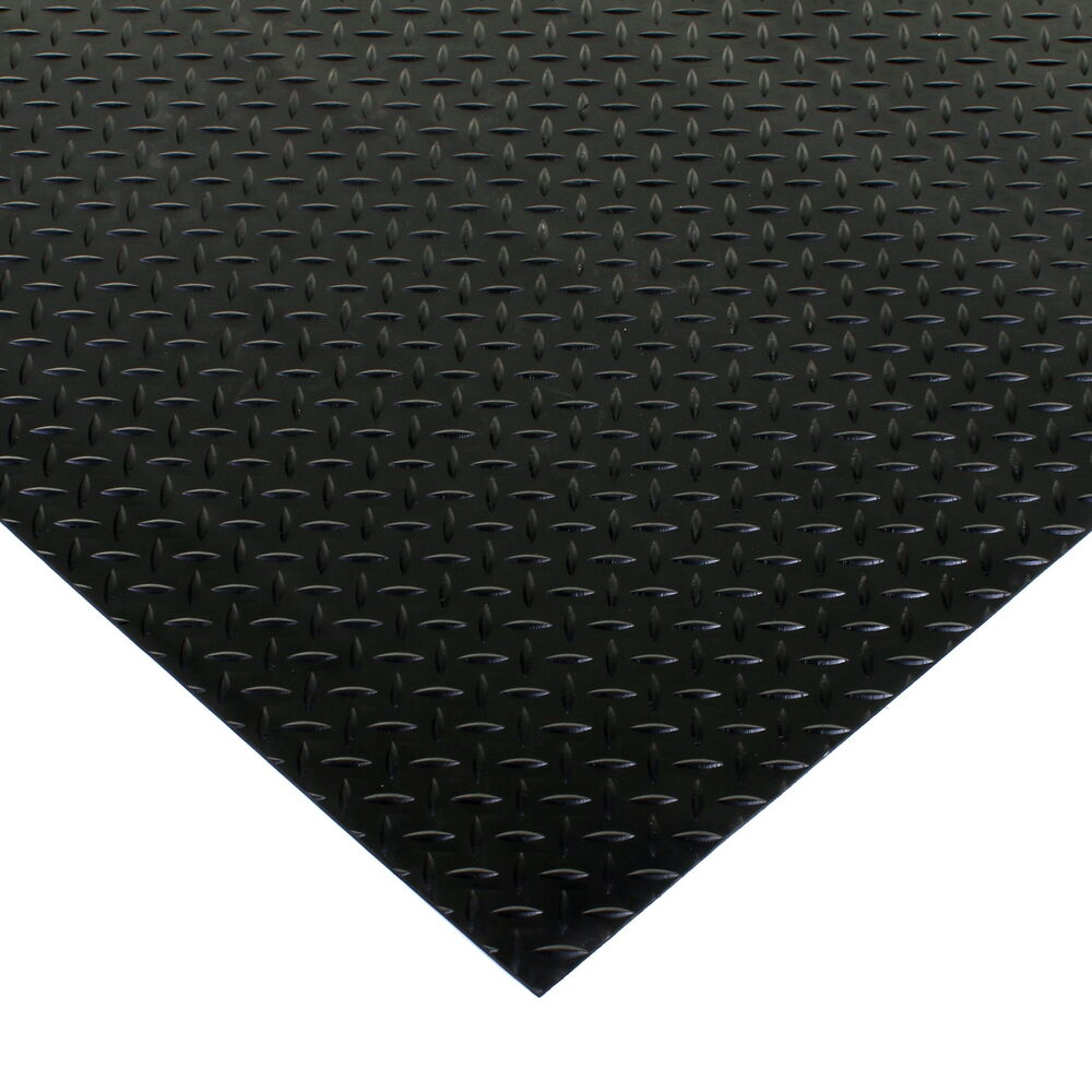 Black Rubber Flooring Matting Heavy Duty Floor Mat Garage