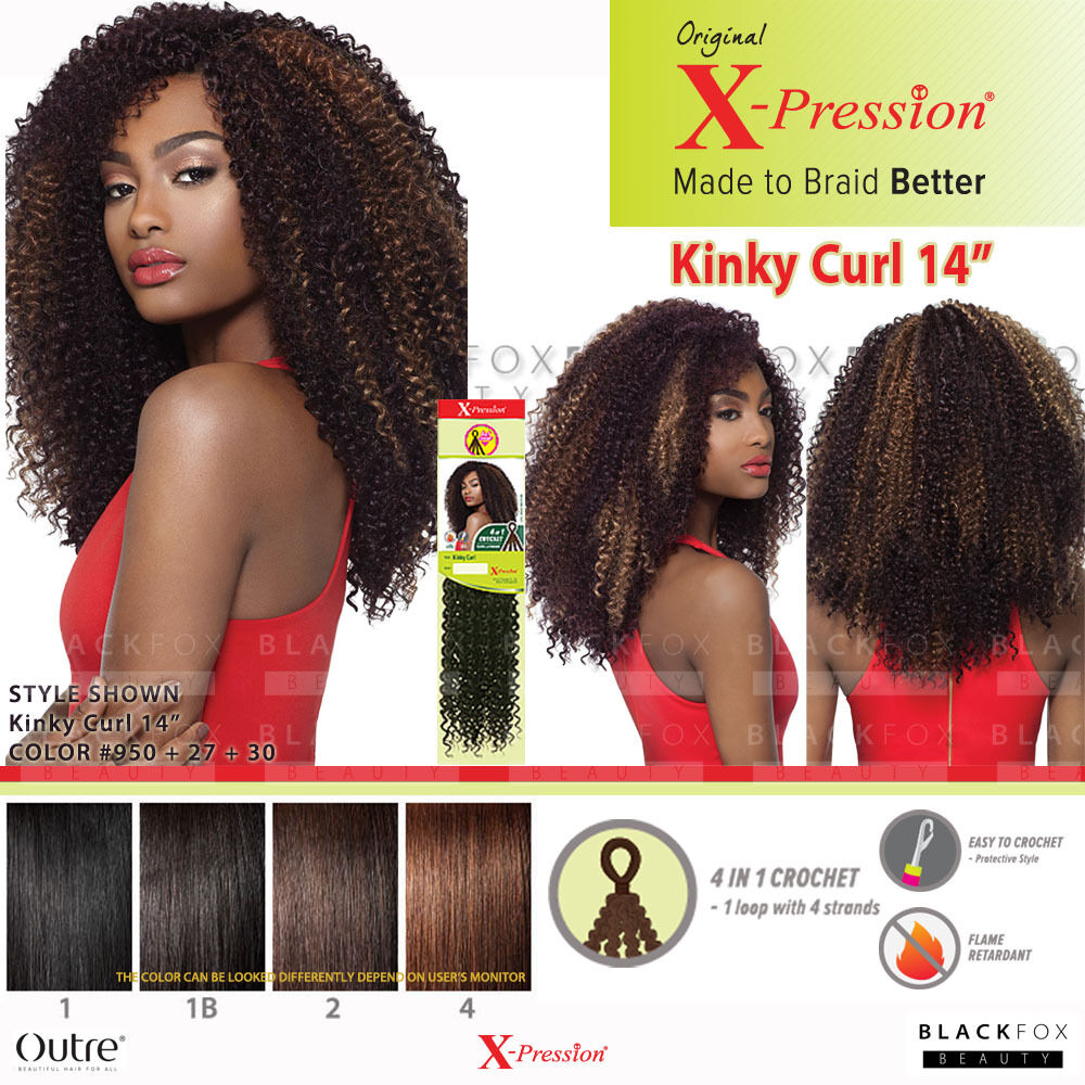 Outre X Pression 4 In 1 Loop Crochet Synthetic Braid Kinky