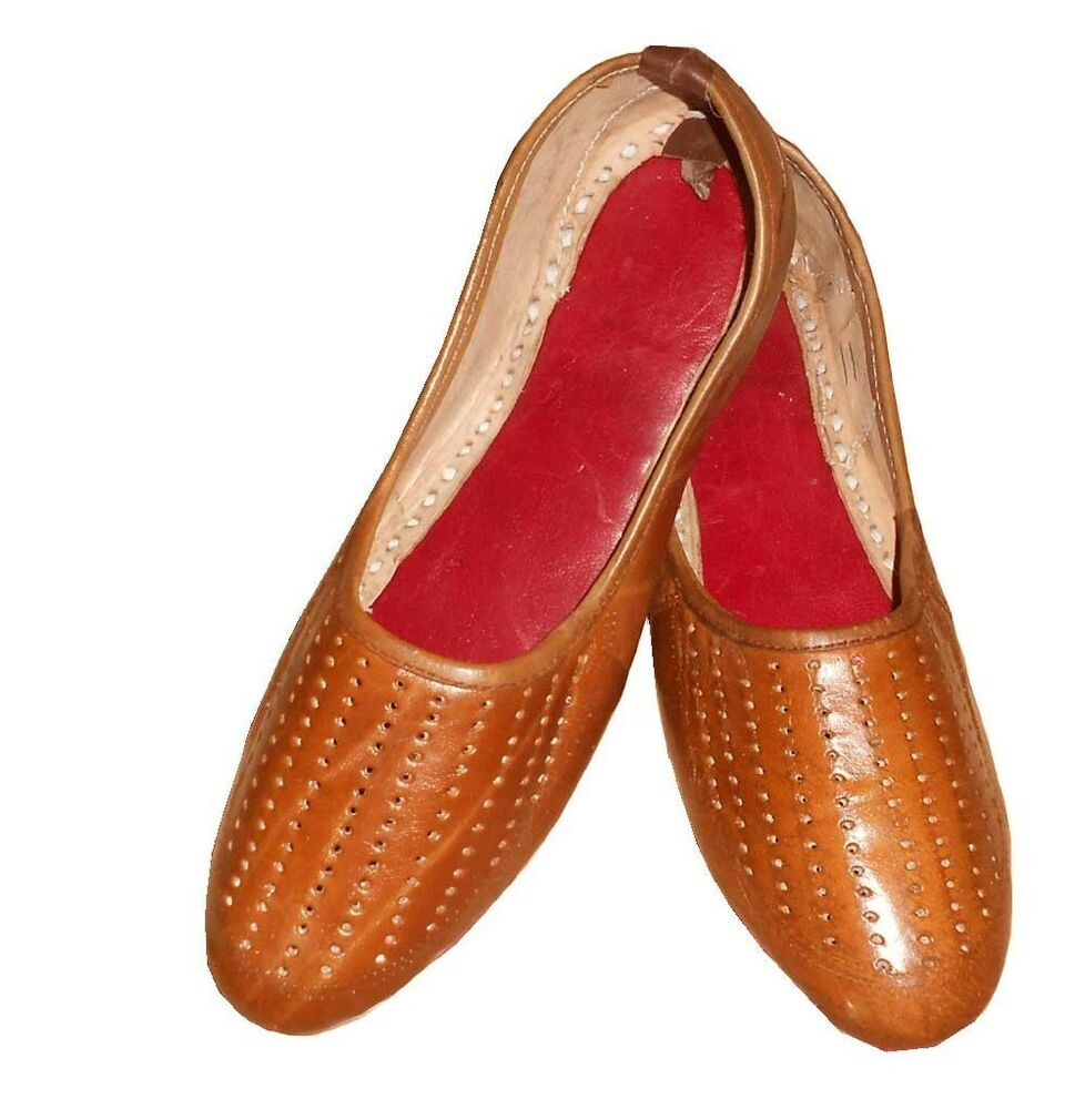 Mojari Men Shoes Indian Handmade Leather Slipper Brown ...