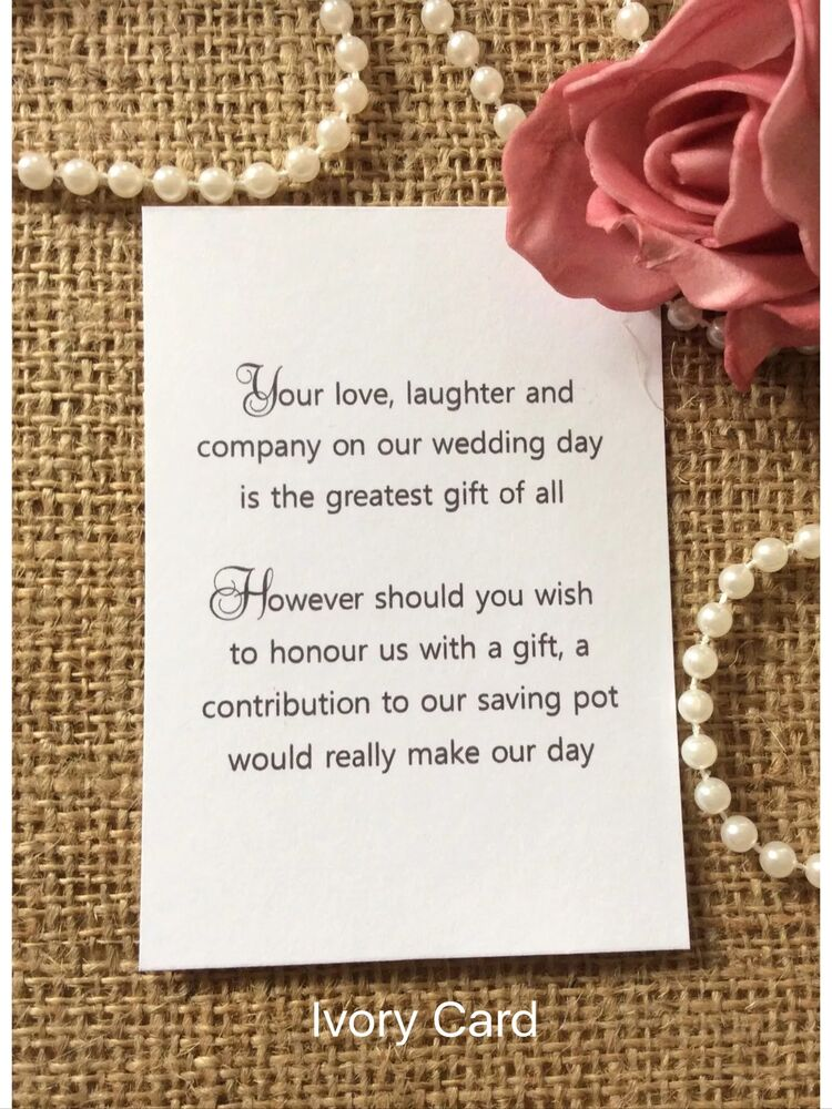Cash Wedding Gift Calculator Uk : 25 /50 WEDDING GIFT MONEY POEM SMALL CARDS ASKING FOR MONEY CASH FOR ...