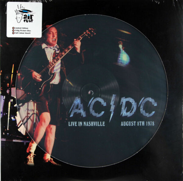 LP AC/DC - Live In Nashville 1978 180 Grammi Picture Disc Vinyl Limited Vinile