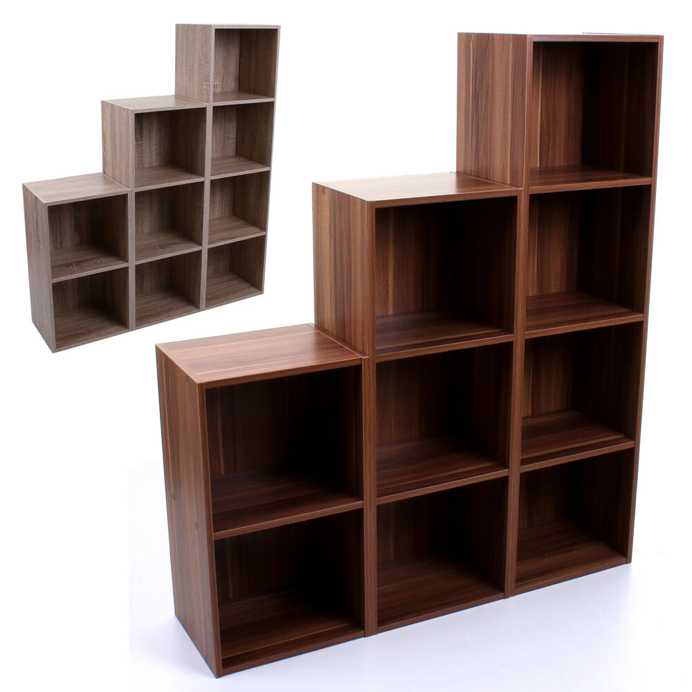 Tier wooden bookcase shelving display storage unit