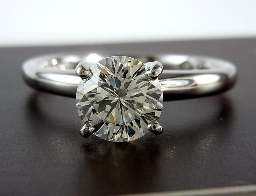 LEO 1 01CT SI2 F Diamond Engagement Ring $8 000 CERTIFIED