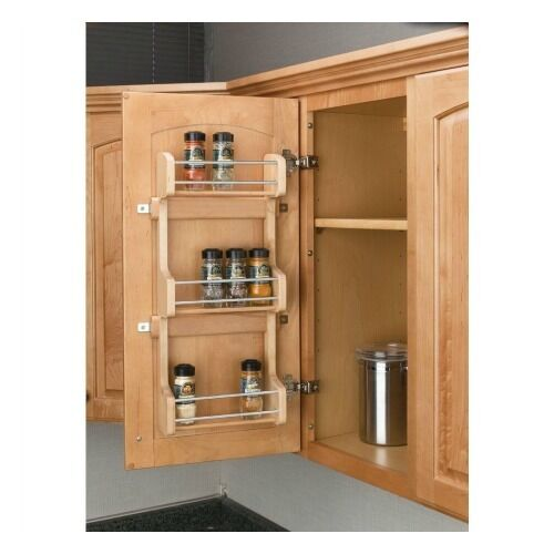 Kitchen Storage Shelf: 3 Shelf Kitchen Pantry Cabinet Door Mount Organizer