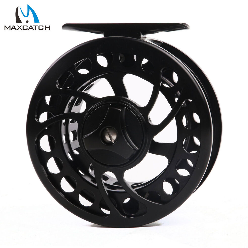 Maxcatch 2 3wt cnc machined aluminium black fly fishing for Fly fishing reels ebay