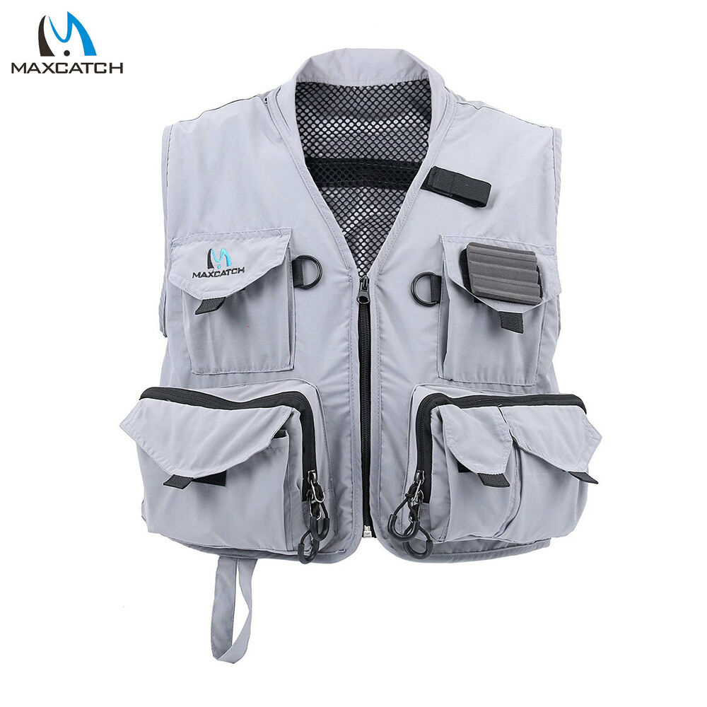 Maxcatch hyfly lightweight mesh multi pocket fly fishing for Toddler fishing vest