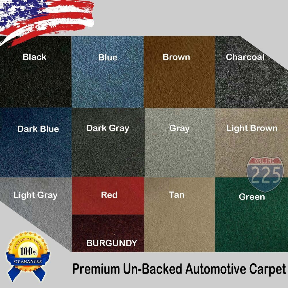 all colors upholstery durable un backed automotive carpet 40 wide by yard lot ebay. Black Bedroom Furniture Sets. Home Design Ideas