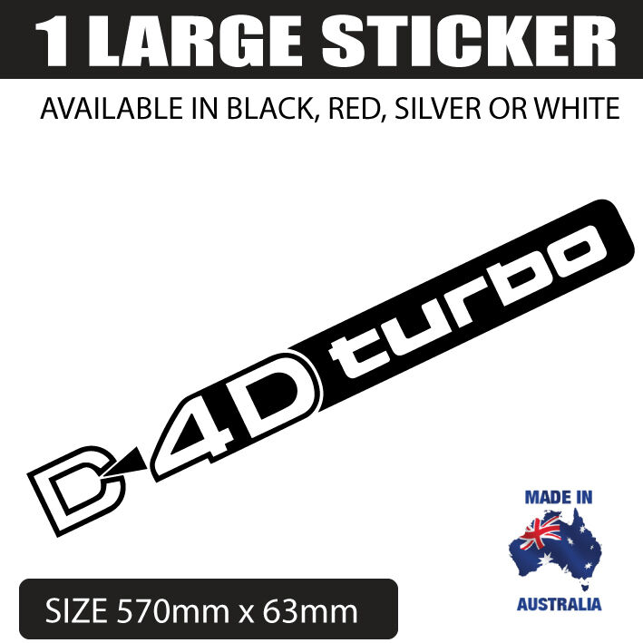 d4d turbo decal large for toyota prado diesel landcruiser