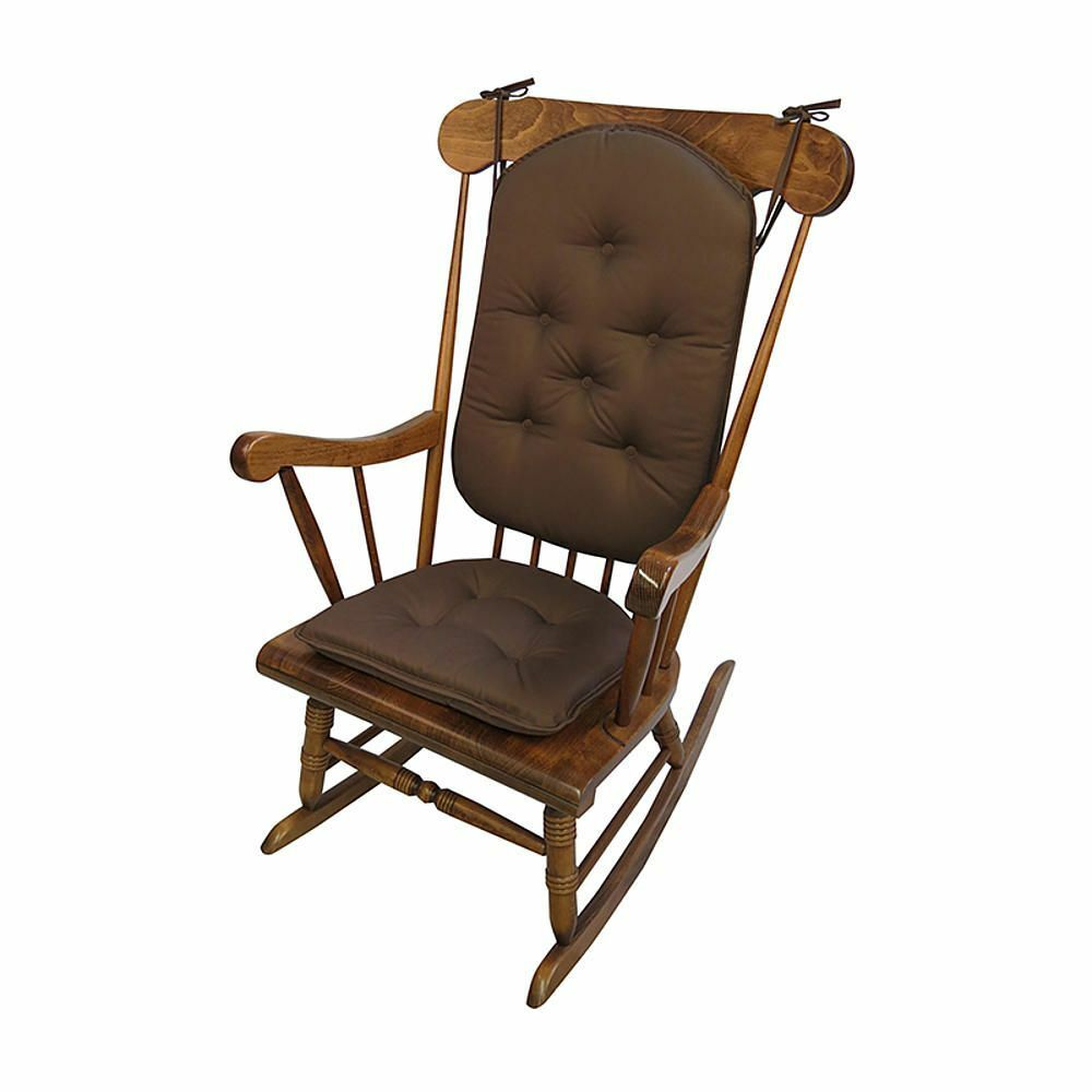 2pc Delight Fill Rocking Chair Cushion Set Twill Cotton Non-Skid Bottom Brown : eBay