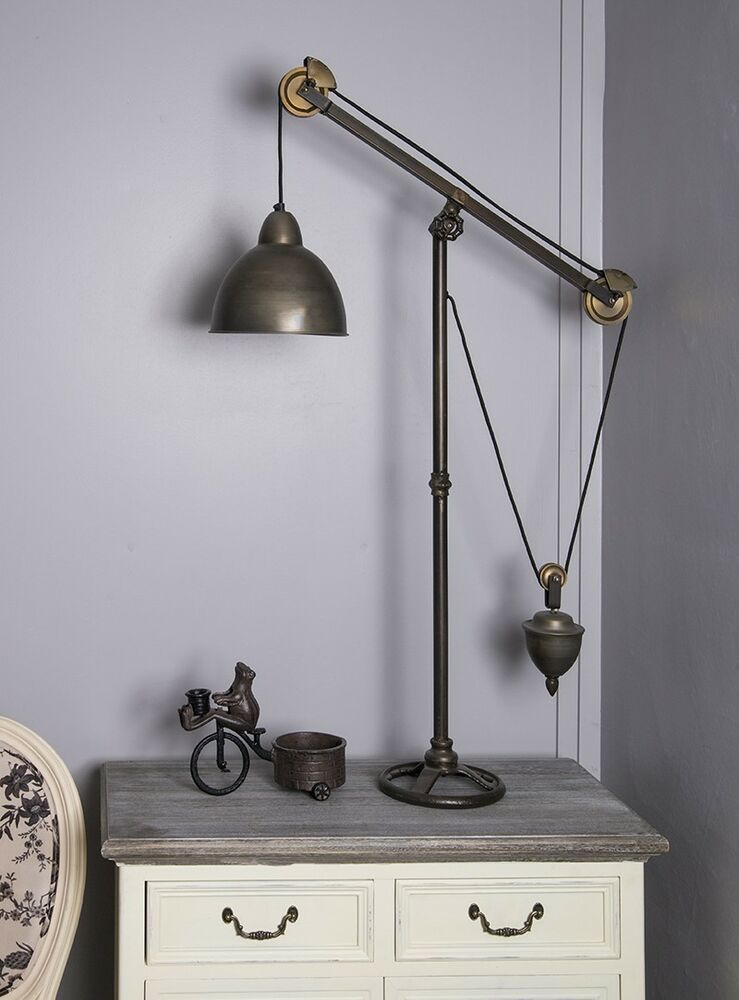 Tripod Industrial Table Lamp Vintage Chic Retro Standing