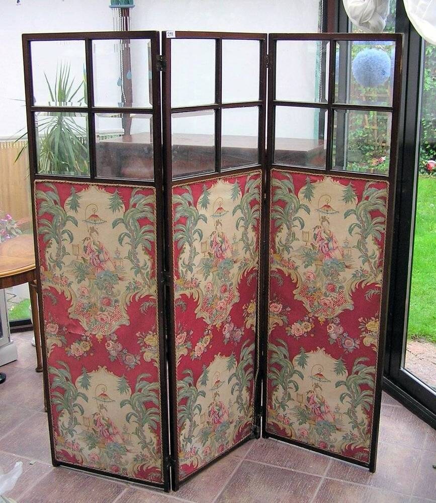 vintage antique edwardian dressing screen room divider oriental ebay