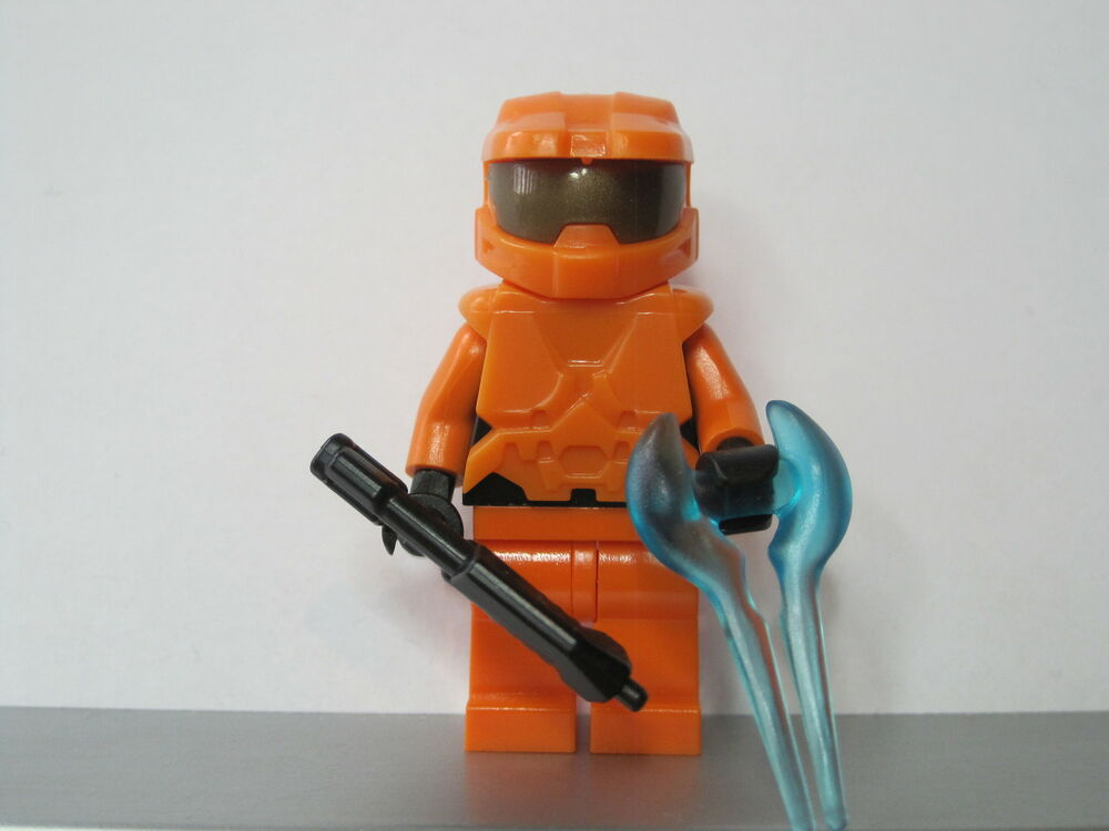 Lego halo orange spartan master chief minifig new ebay - Lego spartan halo ...
