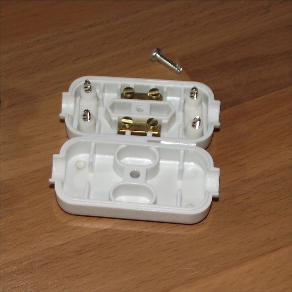 5a Inline Connector Box 2 Terminal Join Mains Cable Flex