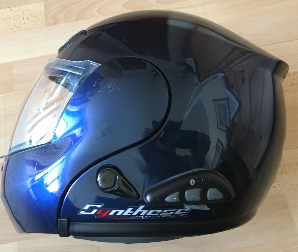 motorrad klapphelm mit bluetooth probiker blau gr e xl. Black Bedroom Furniture Sets. Home Design Ideas