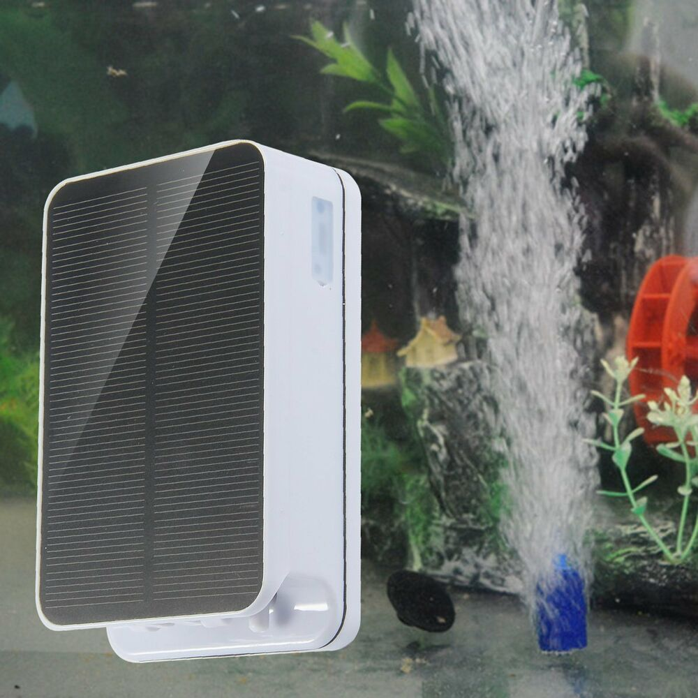 Portable Solar Powered Pool Pond Fish Tank Oxygenator Oxygen Aerator Air Pump Ebay