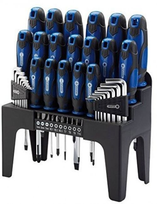 screwdriver set with stand garage craftsman repair fix hand tool kit 44pcs new ebay. Black Bedroom Furniture Sets. Home Design Ideas