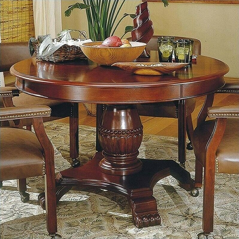 """Steve Silver Company Tournament 48"""" Round Dining Table In"""