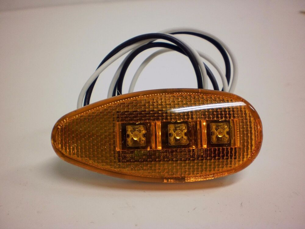 Amber Led Teardrop Marker Light Chrome Cab Roof Marker