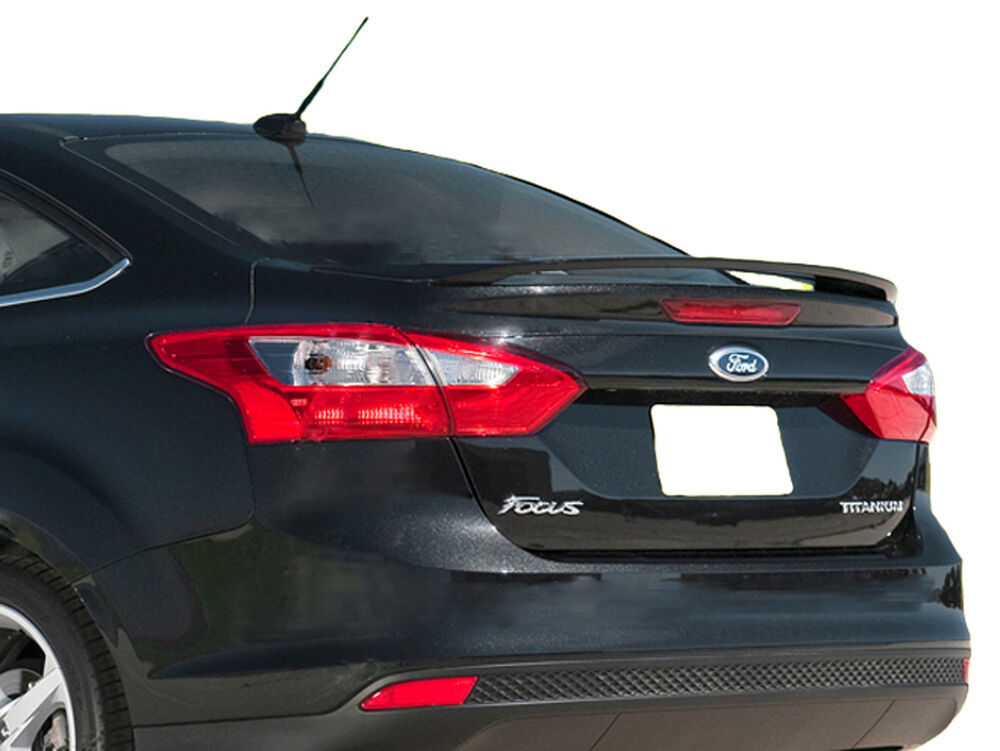 Painted Ford Focus 4 Door Factory Style Rear Wing Spoiler