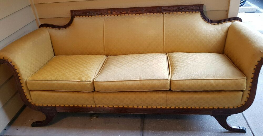 antique duncan phyfe style sofa ebay. Black Bedroom Furniture Sets. Home Design Ideas