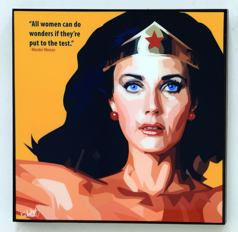 Wonder Woman Classic Canvas Quote Wall Decals Photo Painting - Can i put a wall decal on canvas