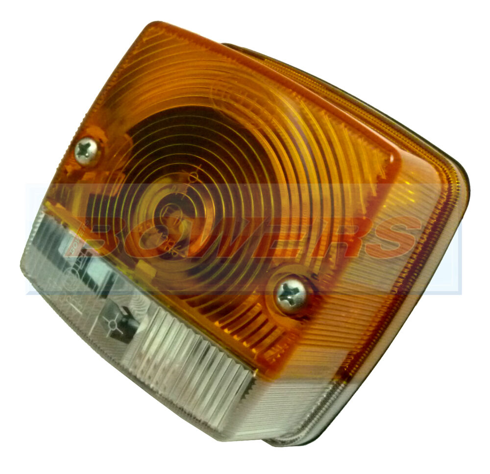 Tractor Front Lights : Hella square front side indicator light lamp massey