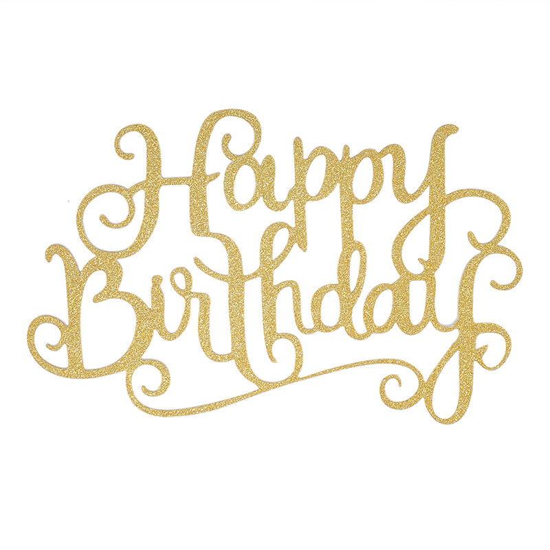 Details About Lovely Hot Happy Birthday Candle Party DIY Gold Cake Topper Supplies Decorations