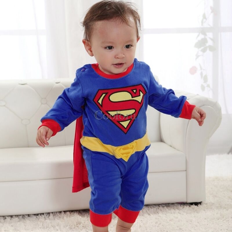 baby kleinkind kid boy halloween superman held anzug. Black Bedroom Furniture Sets. Home Design Ideas