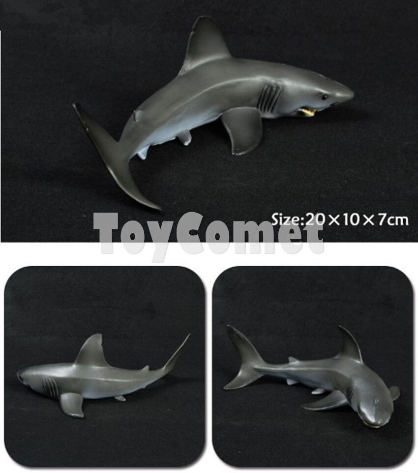 Megaladon Sharks Toys For Boys : Realistic megalodon shark sea animal figure solid plastic