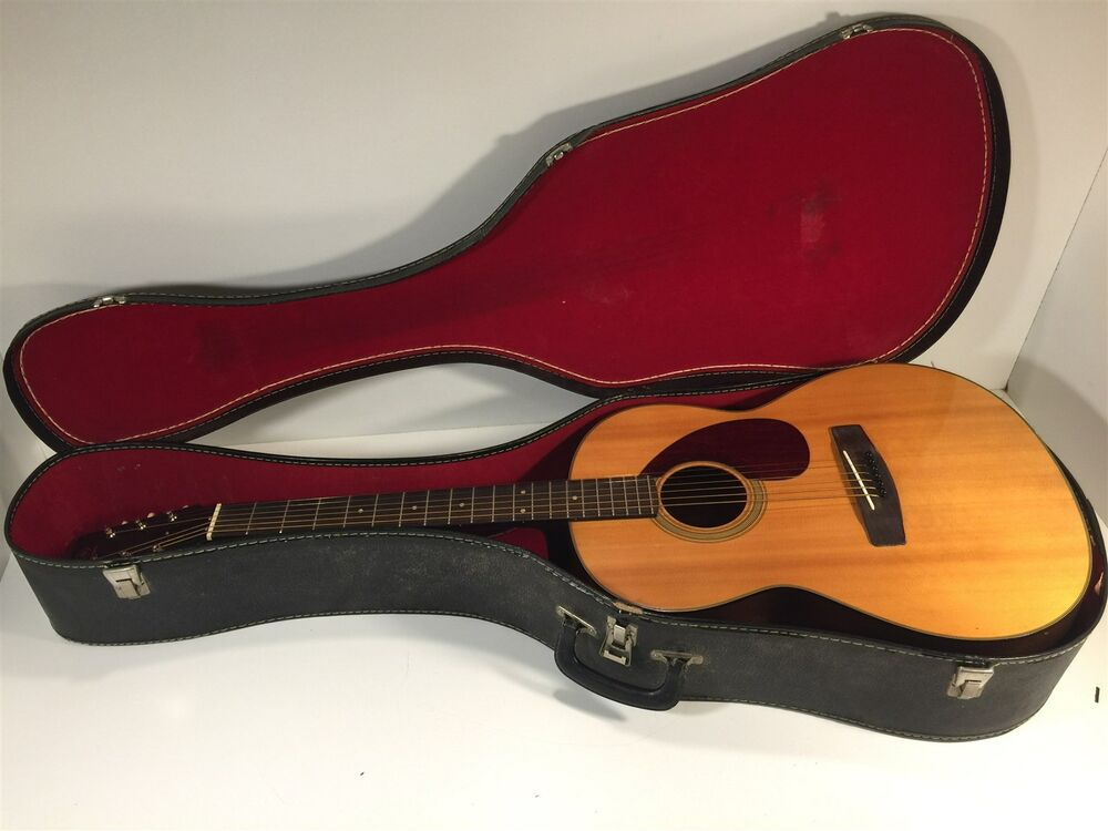 Vintage yamaha fg 75 acoustic guitar with case ebay for Yamaha acoustic guitar ebay