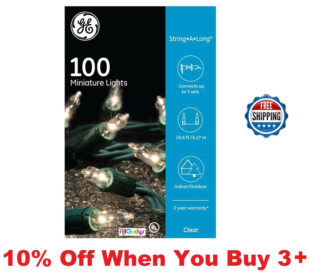 Ge 100 String A Long Clear Miniature Lights 20 6 Ft