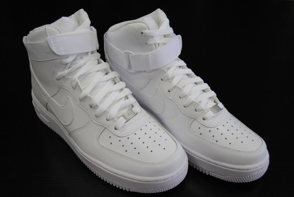 [315121 115] NEW MEN'S NIKE AIR FORCE 1 HIGH '07 ALL WHITE ...