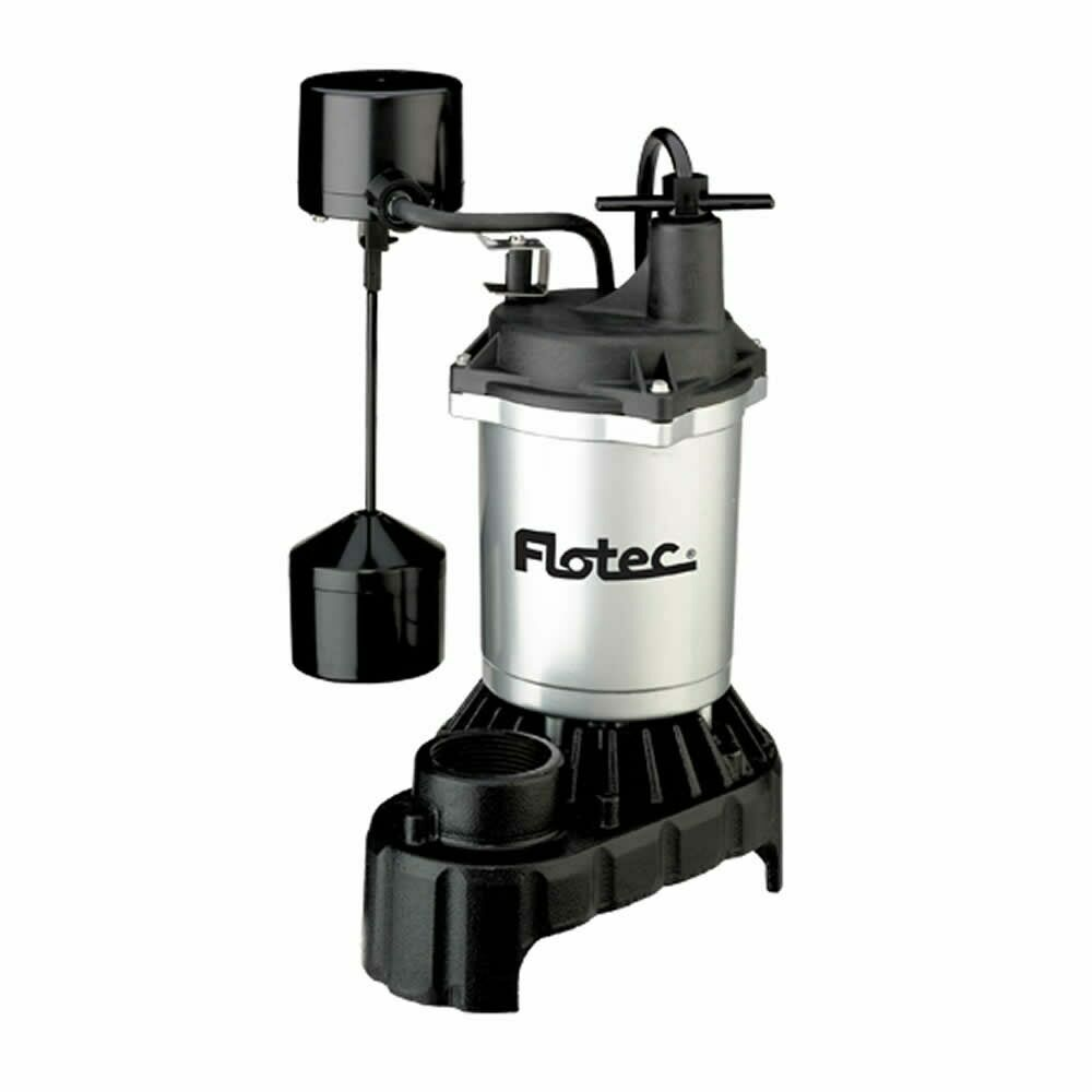 Hydraulic Pump Basement : Flotec fpci  hp cast iron zinc submersible sump
