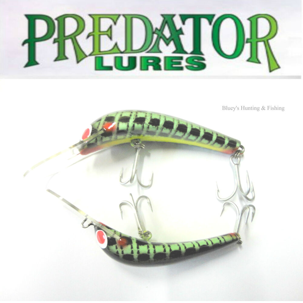 Predator lures cod barramundi fishing lures no new green for Fishing lures for sale on ebay