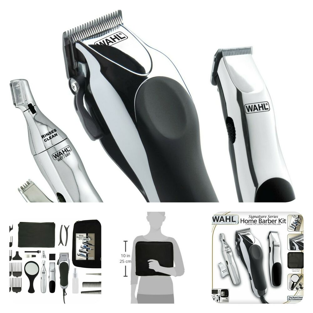 professional haircut clippers wahl professional hair cut trimmer kit clippers haircut 5649
