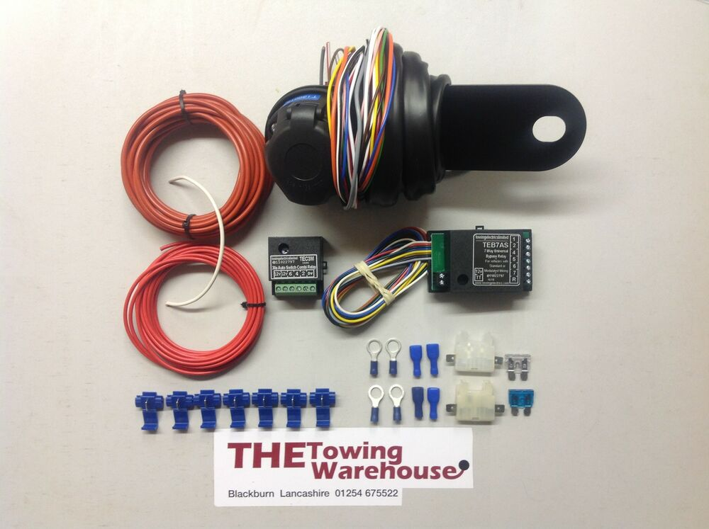 13 pin euro electric towbar towing wiring kit charging. Black Bedroom Furniture Sets. Home Design Ideas