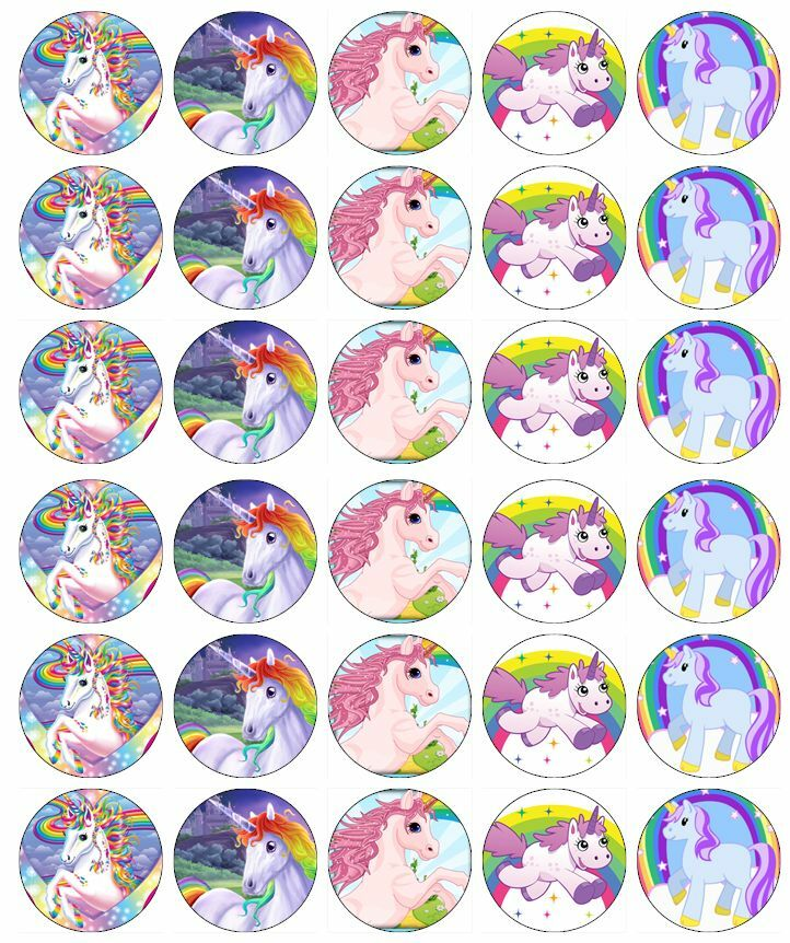 Invaluable image for unicorn cupcake toppers printable