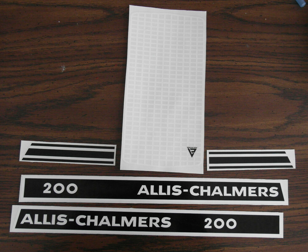 Allis Chalmers Pedal Tractor Decals : Decal for allis chalmers pedal tractor new ebay