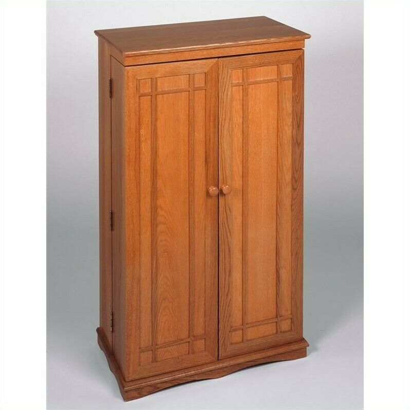 Dvd Storage Cabinet ~ Leslie dame quot cd dvd media storage cabinet wood light