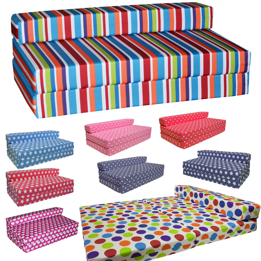 Fold Out Futon Double Guest Z Bed Kids Folding Mattress Sofa Bed Sofabed Gilda Ebay