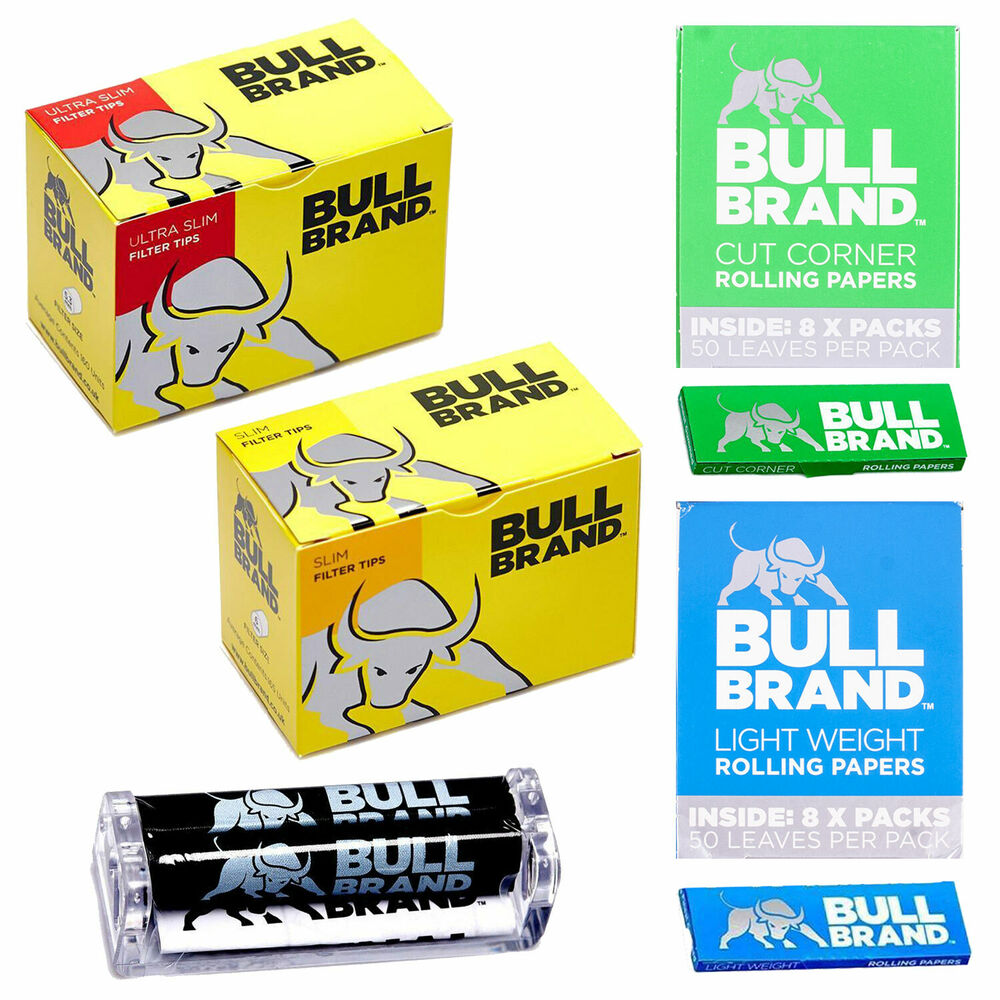 Cigarette Filters Papers Roller Tin By Bull Brand