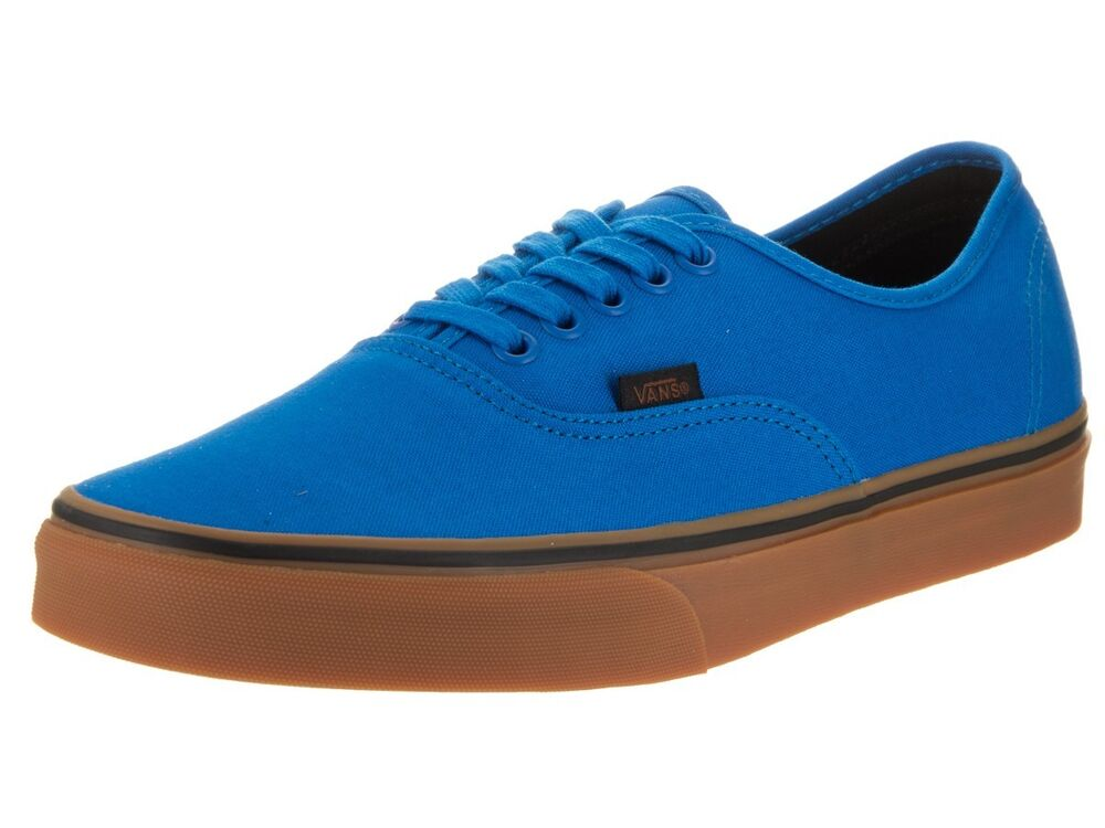 cb6781bfb97fa6 Details about Vans Authentic Gum Imperial Blue Black Mens Womens Canvas  Shoes All Sizes
