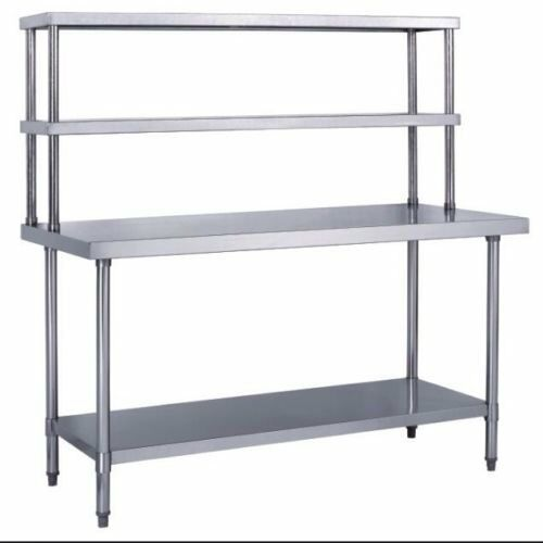 "Industrial Kitchen Prep Table: Stainless Steel Work Prep Table 30"" X 48"" With Double"