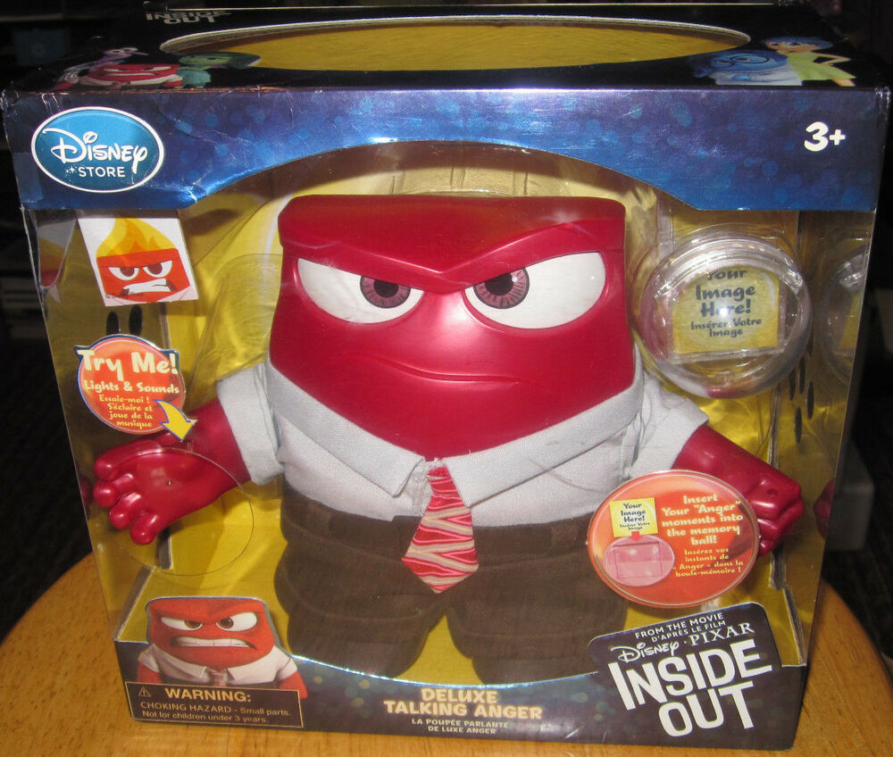 anger deluxe talking doll from disney store pixar inside out movie light up ebay. Black Bedroom Furniture Sets. Home Design Ideas