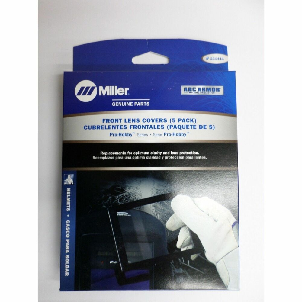 Miller Welding >> Genuine Miller Pro-Hobby Series Front Lens Covers 5 pack 231411 | eBay