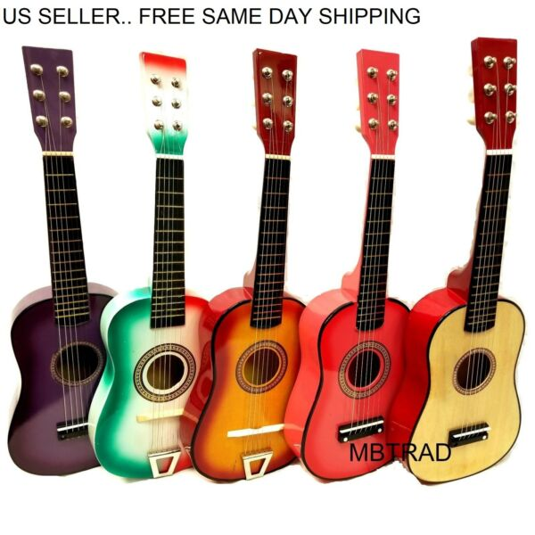 Kids Toy Guitar Childrens Acoustic Prop Musical String Practice with pick colors