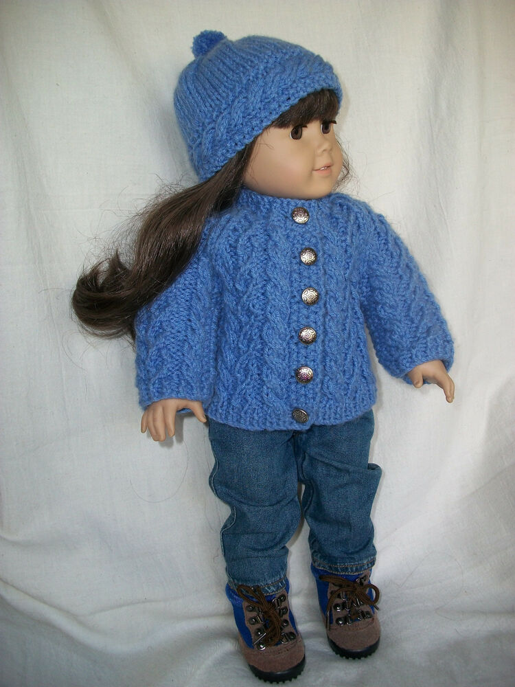 Knitting Pattern Doll Cardigan : 18